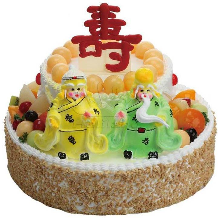 祝寿蛋糕 - 乐富蛋糕鲜花